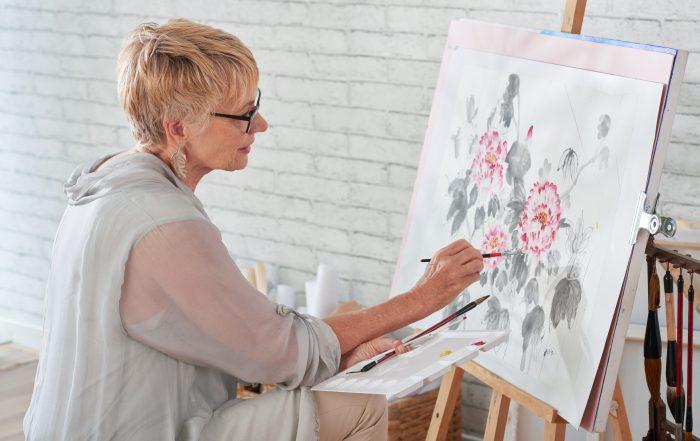 Persona pintando